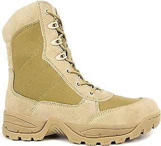 WIDEWAY Men's 8'' Military Tactical Boots Outdoor Water Resistant Boots with Zipper