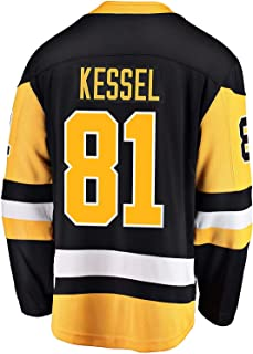 Outerstuff Phil Kessel Pittsburgh Penguin #81 Black Yellow Home Kids Premier Jersey