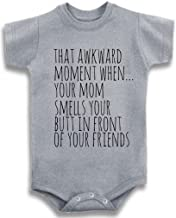 Gray Crew Neck Baby Tee Time Girls' That Awkward Moment When...