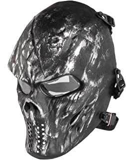 NINAT Airsoft Skull Masks Full Face - Tactical Mask Eye Protection for CS Survival Games BBS Shooting Masquerade Halloween Cosplay Movie Props Zombie Scary Skeleton Masks …