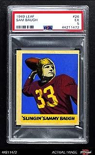 sammy baugh football cards