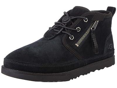 UGG Kids SINGLE SHOE Neumel Dual Zip Boot (Black) Boys Shoes