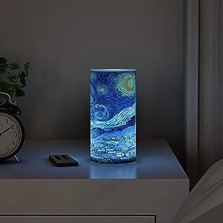 Lavish Home Van Gogh Art on Vanilla Scented Realistic Flickering or Steady Flameless Light-Decor, 80-FC1008, Na, NA