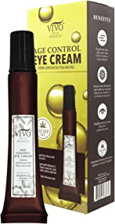 Vivo Per Lei Eye Cream for Dark Circles and Puffiness - Under Eye Cream with Hemp Oil, Olive Oil, Tiger Grass and Sunflower Oil - Vitamin E Eye Cream for Wrinkles and Fine Lines - 20 G / 0.7 Oz