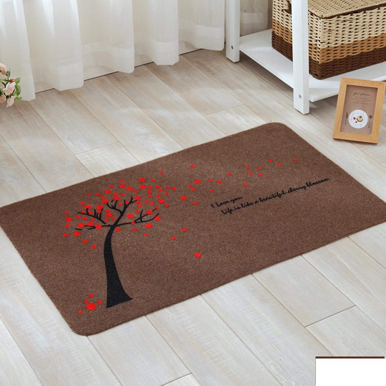 Indoor mats Floor mats for Bedroom Bathroom Kitchen Toilet bar Water-Absorption Anti-Slip mat-F 120x120cm(47x47inch)