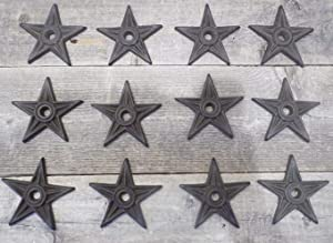 Midwest Craft House 12 Decorative Stars Washer Cast Iron Texas Lone Star Rustic Decor 3 7/8