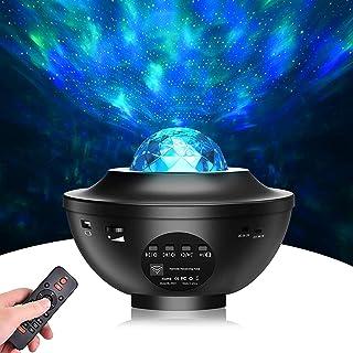 Starlight-projector 2 in 1 nachtlichtprojector oceaangolven projector 10 kleuren nachtelijke hemelprojector met afstandsbe...