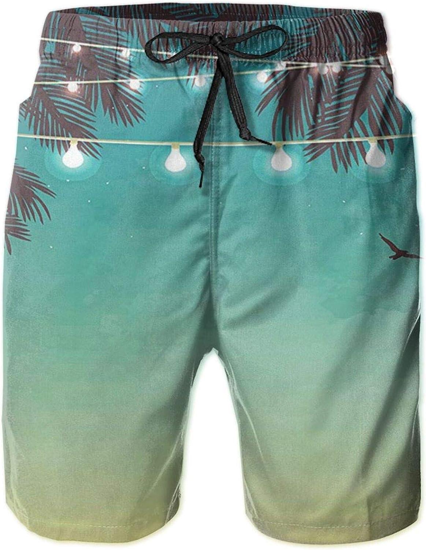 Night Time Ranking TOP11 Beach Sunset Men's Funny Trunks Mesa Mall Dry Summer Quick Swim