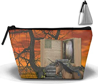 PANQJN Dream Unicorn Travel Cosmetic Bag Portable Trapezoidal Strorege Bag Makeup Handbag