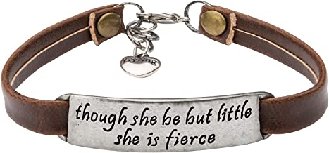 Inspirational Vintage Stretch Leather Bracelet for Women Teens Engraved OrnamentJewelry Gift