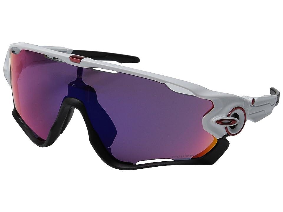 Oakley Jawbreaker (Polished White w/Prizm Road) Sport Sunglasses