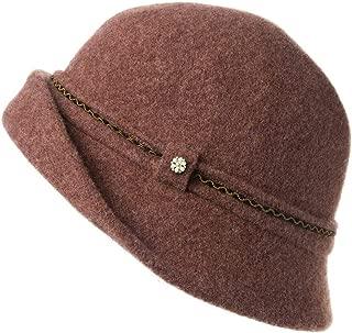 Womens Derby Hat 1920s Fedora Round Bucket Winter Bowler Beret Painter Fall 55-59cm