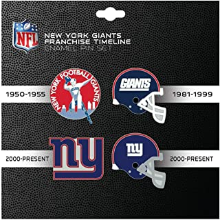 NFL Sports Team Logo 4 Pin Set Franchise Timeline Collectible Throwback