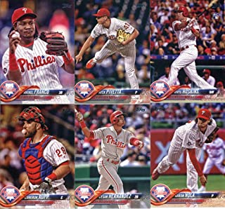 Philadelphia Phillies 2018 Topps Complete Mint Hand Collated 21 Card Team Set with Maikel Franco, Aaron Nola and a Rhys Hoskins Rookie Card plus