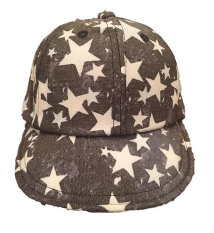 [プラセル] 子供 子ども キッズ 帽子 ぼうし つば付き 星柄 スター キャップ 野球帽 48?52cm 2カラー