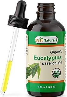 Best Naturals Certified Organic Lavender Essential Oil with Glass Dropper 4 FL OZ