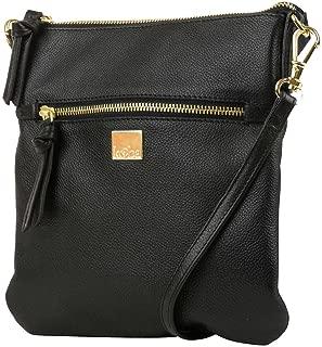 Leather Crossbody Bag (Black)