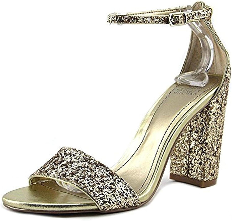 Belle Badgley Mischka Womens Zoelle Block Heel Open Toe Dress Sandals