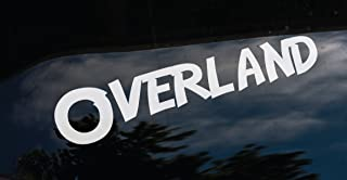 OVERLAND car window DECAL / STICKER _ for any smooth surface. Waterproof. Will last up to 7 years. For Tacoma, JKS, Wranglers, Laptops ect.. (8