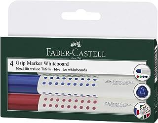 أقلام سبورة جريب متنوعة من فابير كاستل- 4 ألوان