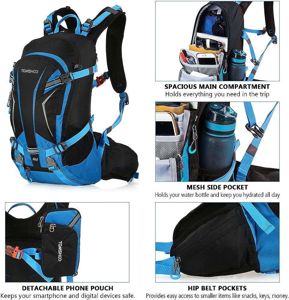 TOMSHOO Mochila Ciclismo 20L//30L Impermeable para Excursionismo Ciclismo Alpinismo Senderismo Camping al Aire Libre con Cubierta de Lluvia y del Casco