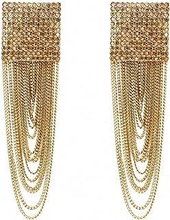 Fiery Summer Golden Raised Design Statement Earrings