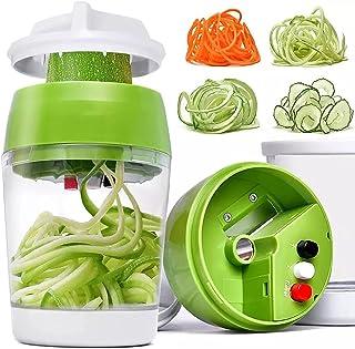 Spiraliseur De Légumes, Trancheuse Mandoline Portative Spiralizer Avec Récipient, Coupe-hachoir Râpe Courgettes, Carottes ...