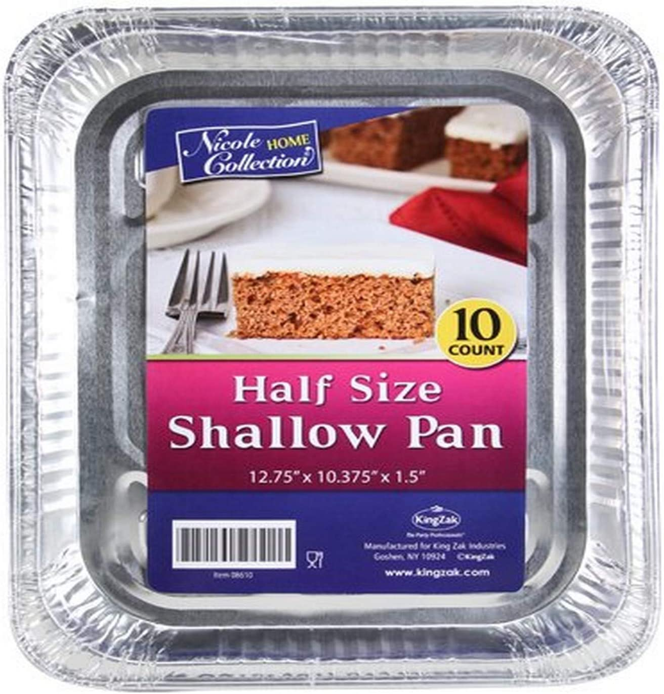 Nicole Selling Home shipfree Collection Half Size Shallow Pack 10 Aluminum Pan of