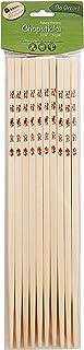 Helen's Asian Kitchen 97024 Chopsticks, 10.5-Inches, 10-Pair, Natural Bamboo
