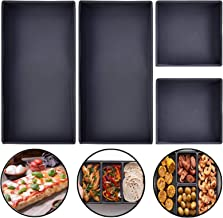 QUECAOCF Silicone Cheat Sheets Pans Set of 4 Pieces, Nonstick Dividers Baking Silicone Sheet Pan Easy Clean (4)