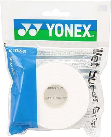 ヨネックス(YONEX) テニス バドミントン グリップテープ ウェットスーパーグリップ 詰め替え用 (5本入り) AC1025 ホワイト