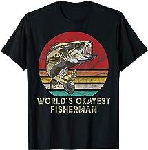 Worlds Okayest Fisherman Vintage Bass Fishing Gifts T-Shirt