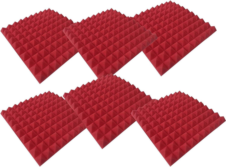 818 Pannelli Fonoassorbenti Piramidali Correzione Acustica Pannello Fonoisolante Acustico Spugna Fonoassorbente Studio KTV Adesivo da Parete Insonorizzato H27