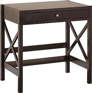 The Mezzanine Shoppe Modern 1 Drawer X Base Home Office Writing Desk, 33.25