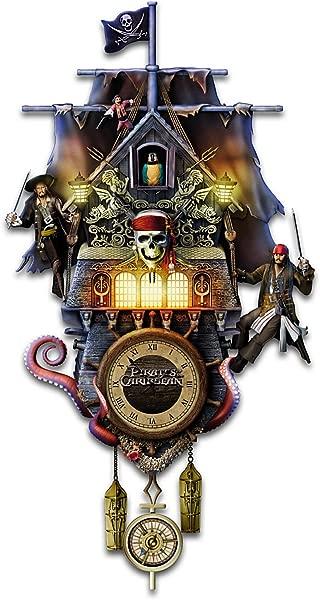 The Bradford Exchange Collectible Disney Pirates Of The Caribbean Illuminated Black Pearl Cuckoo Clock