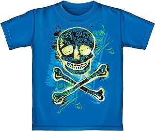 Skeleton Crossbones Youth Tee Shirt (Glow in The Dark)