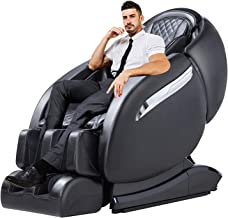 OOTORI Massage Chair Recliner, Zero Gravity SL-Track, Full Body Shiatsu Electric Massage Chair with Stretching Tapping Heating Back and Foot Massagers Space Capsule (Black)