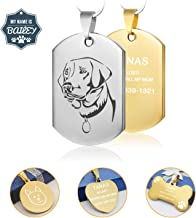 Stainless Steel Dog Tag,Custom Engraved Dog Tags and Cat Tags,Personalized Engraved on Both Sides, Easy to Read,Incredibly Durable and Long Lasting Pet ID Tags