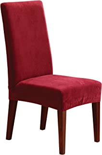 SureFit Stretch Pique - Shorty Dining Room Chair Slipcover - Garnet