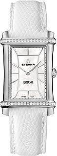 DREBH - 2410.48.66.1200 - Reloj de Cuarzo para Mujer, Correa de Cuero Color Blanco