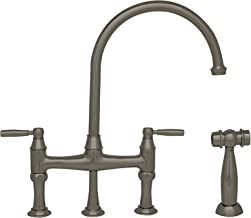 Queenhaus dual solid lever handle bridge kitchen faucet