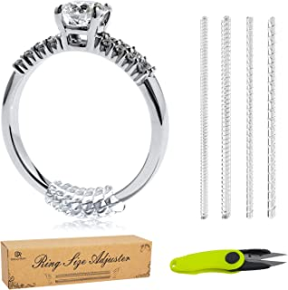 Silicone Ring Size Adjuster 12pcs - Bonus Scissors - Ring Guard for Loose Rings with Instructions