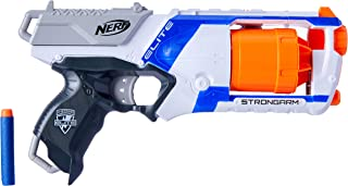 Nerf Elite Strongarm Blaster - 6 Dart Slam Fire - 12 Official Darts - Kids Toys & Outdoor Play - Ages 8+