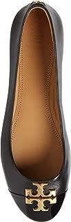 Tory Burch Everly Ballet Cap Toe Flats, Perfect Black (7.5 M US)