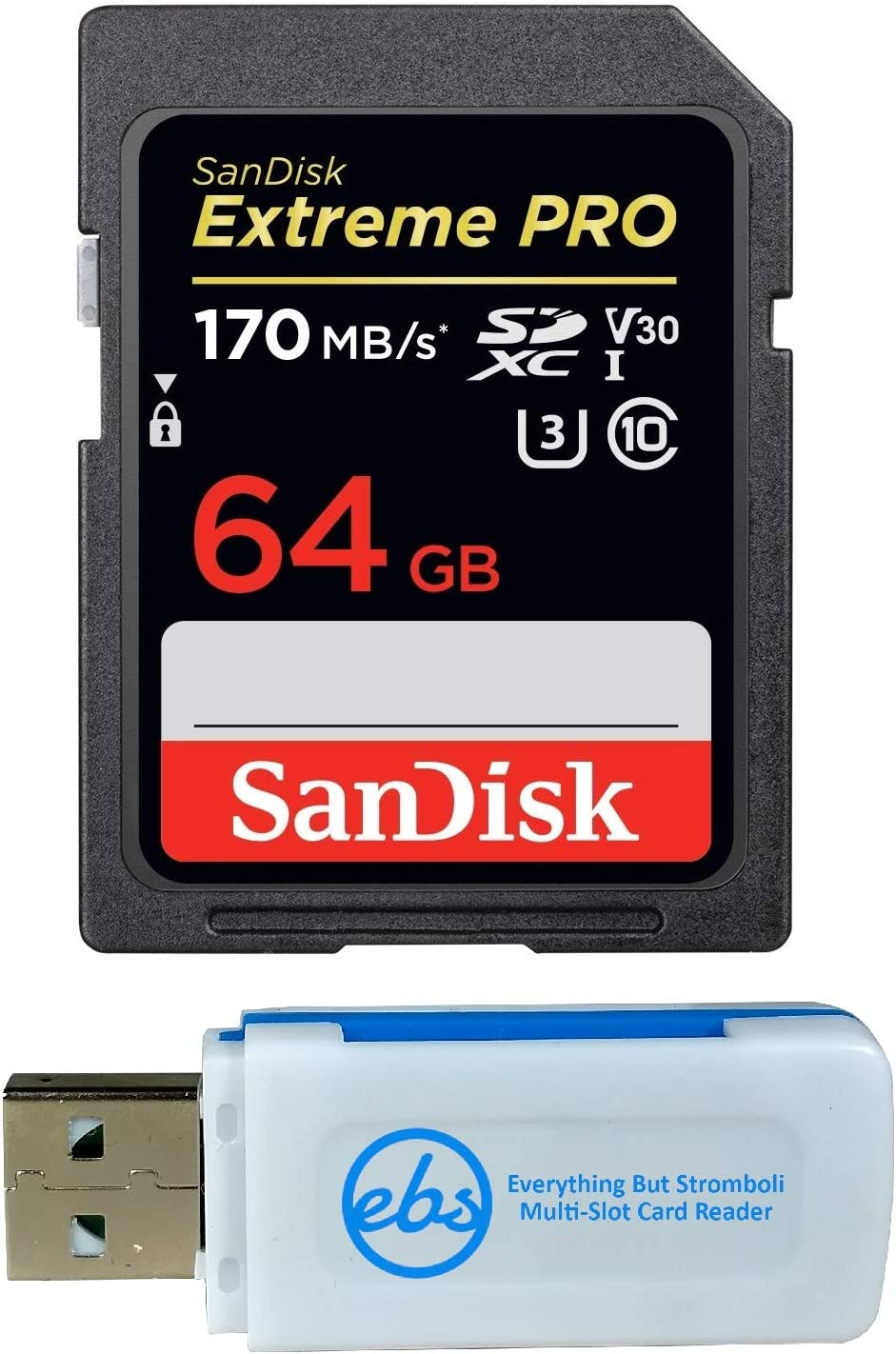 SanDisk 64GB Outstanding SDXC SD Extreme Pro Card Bundle with C Memory mart Works