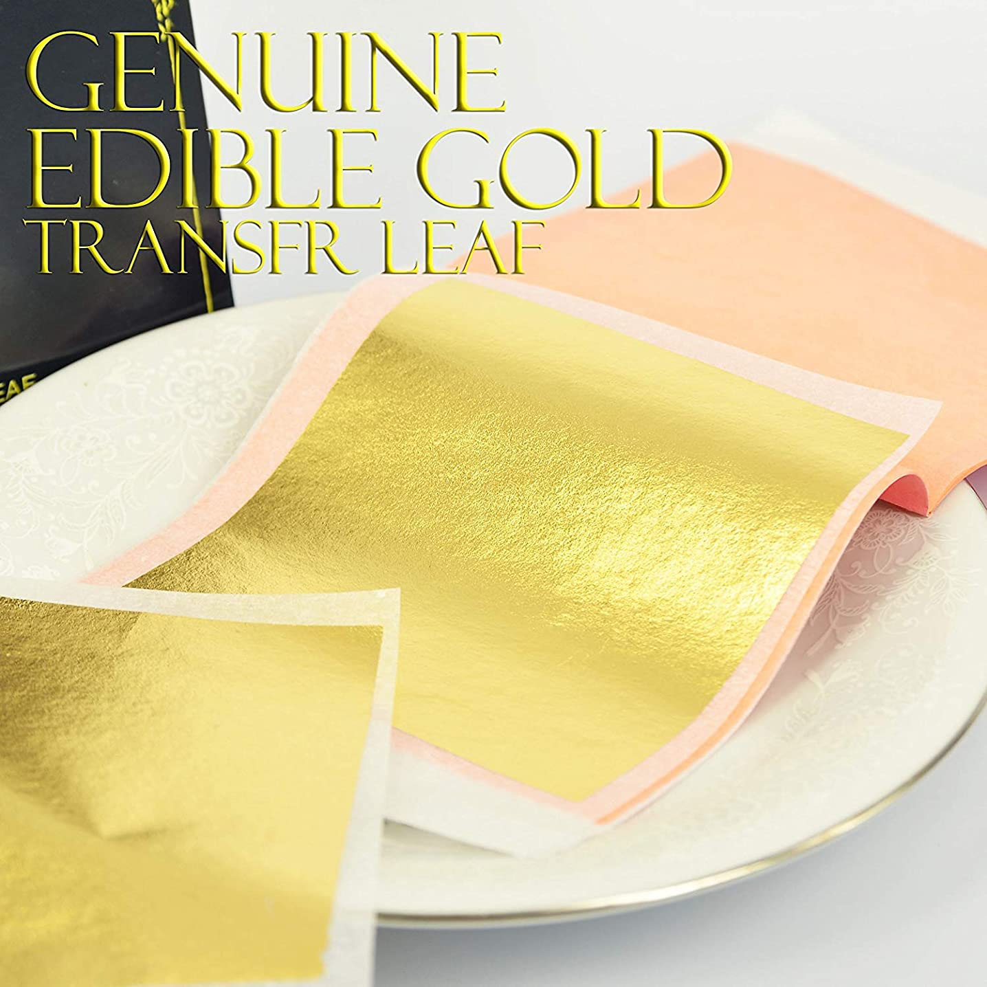 Edible Genuine Gold Leaf Sheets - by Barnabas Blattgold - 3.1 inches Booklet of 10 Sheets - Transfer Patent Leaf