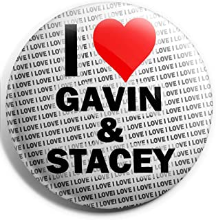 I Love Gavin & Stacey Grand badge à épingle – 75 mm – Cadeau – Anniversaire – Noël