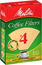 Melitta #4 Super Premium Cone Coffee Filters, Natural...