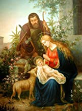 Holy Family portrait POSTER A3 print Virgin Mary St. Joseph picture image Blessed Mother and Child Nativity scene Holy Mary painting Catholic posters prints Christmas gifts