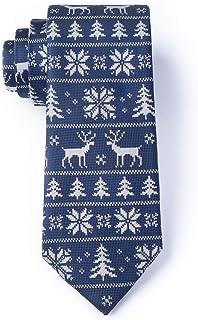 Men's Holiday Retro Look Christmas Less Ugly Sweater Reindeer Isle Necktie Tie
